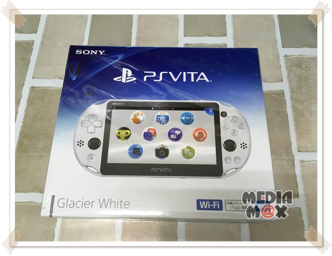 買取した、PS Vita2000 グレイシャーホワイト